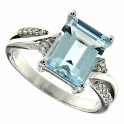 3.80ctw Sky Topaz Ring in Sterling Silver