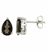 3.82ctw Smokey Quartz Earrings in Sterling Silver