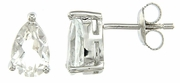 3.82ctw White Topaz Earrings in Sterling Silver