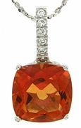 "3.84ctw Mystic Sunstone Pendant in Sterling Silver with 18"" Chain"