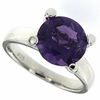 3.91ctw Amethyst Ring in Sterling Silver