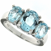 3.97ctw Sky Topaz Ring in Sterling Silver