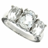 3.97ctw White Topaz Ring in Sterling Silver