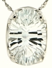 "3.98ctw White Topaz Pendant in Sterling Silver with 18""Chain"