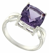 4.00ctw Amethyst Ring in Sterling Silver