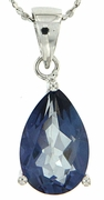 "4.00ctw Mystic Iolite Blue Pendant in Sterling Silver with 18"" Chain"