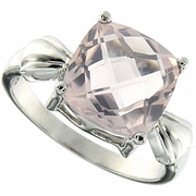 4.03ctw Rose Quartz Ring in Sterling Silver