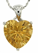 "4.05ctw Citrine Pendant in Sterling Silver with 18"" Chain"