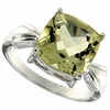 4.09ctw Lemon Quartz Ring in Sterling Silver