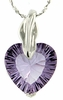 "4.10ctw Amethyst Pendant in Sterling Silver with 18"" Chain"