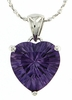 "4.15ctw Amethyst Pendant in Sterling Silver with 18"" Chain"