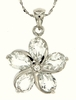 "4.17ctw White Topaz Pendant in Sterling Silver with 18""Chain"