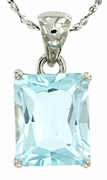 "4.18ctw Sky Topaz Pendant in Sterling Silver with 18"" Chain"