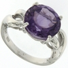 4.20ctw Amethyst Ring in Sterling Silver