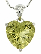 "4.25ctw Lemon Quartz Pendant in Sterling Silver with 18""Chain"