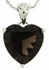 "4.25ctw Smokey Quartz Pendant in Sterling Silver with 18""Chain"