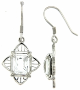 4.26ctw White Topaz Earrings in Sterling Silver