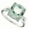 4.28ctw Green Amethyst Ring in Sterling Silver