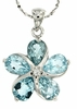 "4.28ctw Sky Topaz Pendant in Sterling Silver with 18"" Chain"