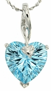 """4.30ctw Sky Topaz Pendant in Sterling Silver with 18"""" Chain"""