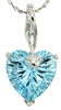 "4.30ctw Sky Topaz Pendant in Sterling Silver with 18"" Chain"