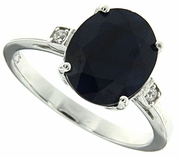 4.47ctw Diffusion Sapphire Ring in Sterling Silver