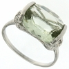 4.49ctw Green Amethyst Ring in Sterling Silver