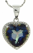 "4.73ctw Mystic Blueish Pendant in Sterling Silver with 18"" Chain"