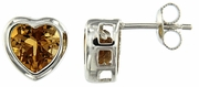 4.74ctw Citrine Earrings in Sterling Silver