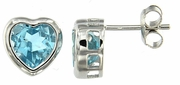 4.74ctw Sky Topaz Earrings in Sterling Silver