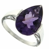 4.89ctw Amethyst and Diamond Ring in Sterling Silver