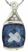 "5.04ctw Mystic Iolite Blue Pendant in Sterling Silver with 18"" Chain"