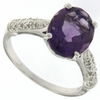 5.51ctw Amethyst and Diamond Ring in Sterling Silver