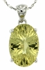 "5.53ctw Lemon Quartz Pendant in Sterling Silver with 18""Chain"