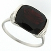 5.57ctw Garnet and Diamond Ring in Sterling Silver