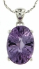 "5.60ctw Amethyst Pendant in Sterling Silver with 18"" Chain"