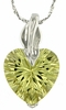 "5.64ctw Lemon Quartz Pendant in Sterling Silver with 18""Chain"