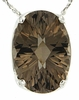 "5.68ctw Smokey Quartz Pendant in Sterling Silver with 18""Chain"