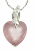 "5.79ctw Rose Quartz Pendant in Sterling Silver with 18""Chain"
