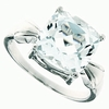 5.94ctw White Topaz and Diamond Ring in Sterling Silver