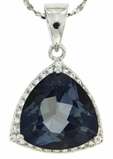 "6.34ctw Mystic Iolite Blue Pendant in Sterling Silver with 18"" Chain"