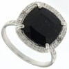 8.86ctw Sapphire and Diamond Ring in Sterling Silver