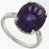 6.90ctw Amethyst Ring in Sterling Silver