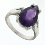 7.25ctw Amethyst Ring in Sterling Silver