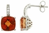 7.48ctw Mystic Sunstone with CZ Earrings in Sterling Silver