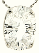 "7.99ctw White Topaz Pendant in Sterling Silver with 18""Chain"