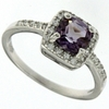 0.86ctw Amethyst and White Sapphire Ring in Sterling Silver