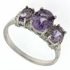 2.08ctw Amethyst and Diamond Ring in Sterling Silver