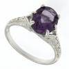 2.56ctw Amethyst and Diamond Ring in Sterling Silver