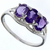 1.43ctw Amethyst and Diamond Ring in Sterling Silver